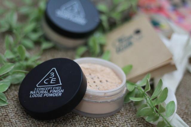 natural finish loose powder 3ce Rư
