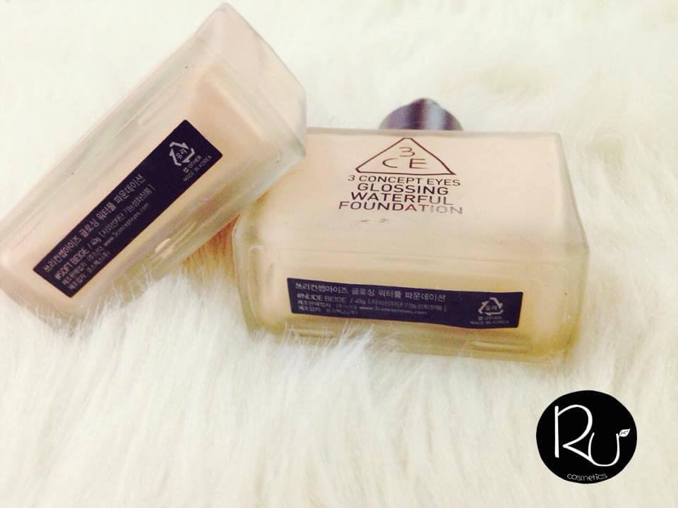 Nàng nào đang dùng 3CE Glossing foundation tông nude beige giống Rư thì nên đổi sang tông soft beige cho hồng hào héng